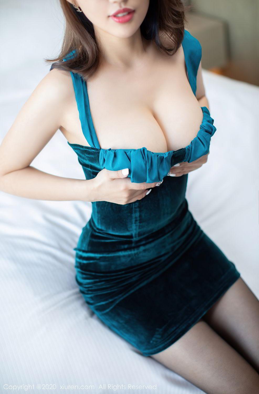 [XiuRen] Vol.2515 Xi Bao Er 23P, Black Silk, Sheng Ru Xia Hua, Underwear, Xiuren