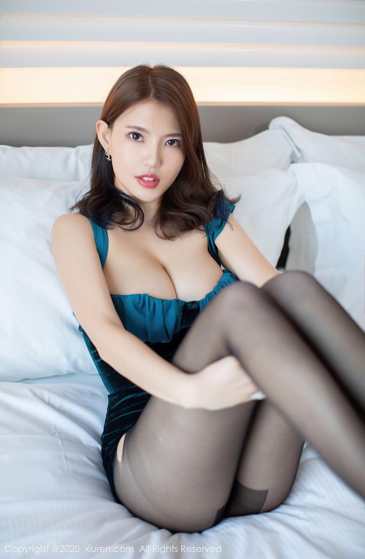 [XiuRen] Vol.2515 Xi Bao Er 24P, Black Silk, Sheng Ru Xia Hua, Underwear, Xiuren