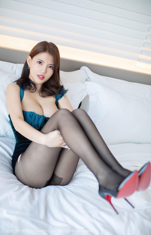 [XiuRen] Vol.2515 Xi Bao Er 25P, Black Silk, Sheng Ru Xia Hua, Underwear, Xiuren