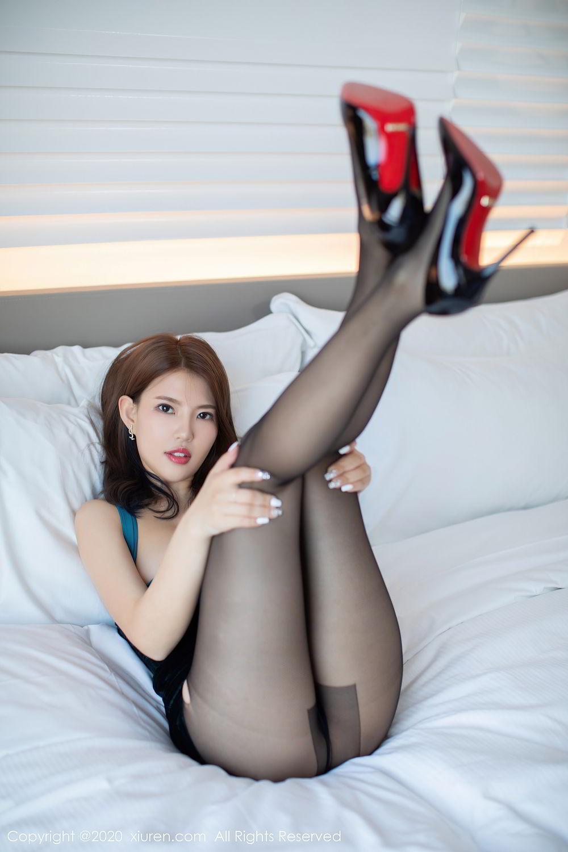 [XiuRen] Vol.2515 Xi Bao Er 26P, Black Silk, Sheng Ru Xia Hua, Underwear, Xiuren