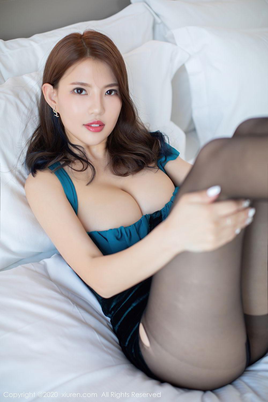 [XiuRen] Vol.2515 Xi Bao Er 28P, Black Silk, Sheng Ru Xia Hua, Underwear, Xiuren