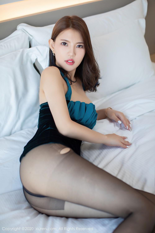[XiuRen] Vol.2515 Xi Bao Er 29P, Black Silk, Sheng Ru Xia Hua, Underwear, Xiuren