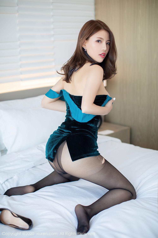 [XiuRen] Vol.2515 Xi Bao Er 38P, Black Silk, Sheng Ru Xia Hua, Underwear, Xiuren
