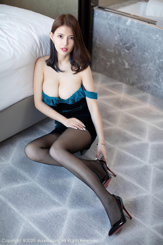 [XiuRen] Vol.2515 Xi Bao Er 39P, Black Silk, Sheng Ru Xia Hua, Underwear, Xiuren