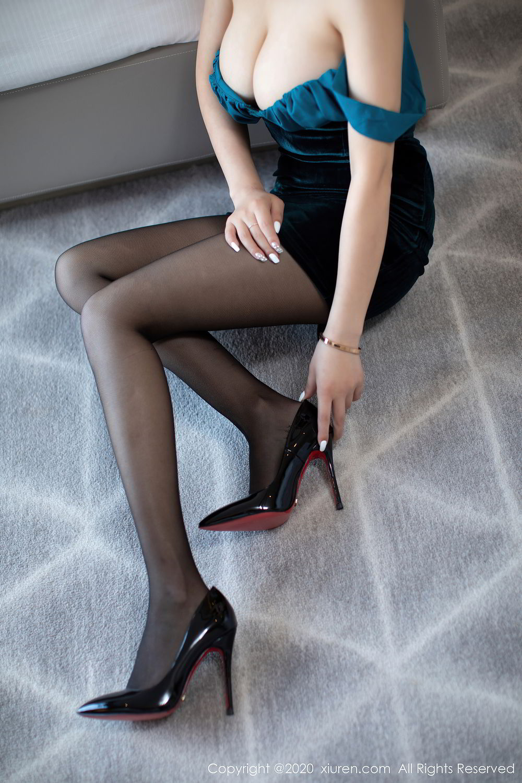 [XiuRen] Vol.2515 Xi Bao Er 40P, Black Silk, Sheng Ru Xia Hua, Underwear, Xiuren