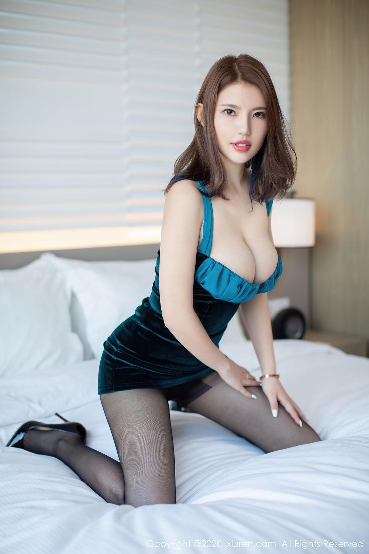 [XiuRen] Vol.2515 Xi Bao Er 45P, Black Silk, Sheng Ru Xia Hua, Underwear, Xiuren