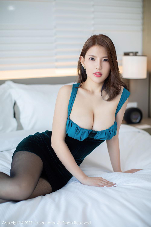 [XiuRen] Vol.2515 Xi Bao Er 47P, Black Silk, Sheng Ru Xia Hua, Underwear, Xiuren