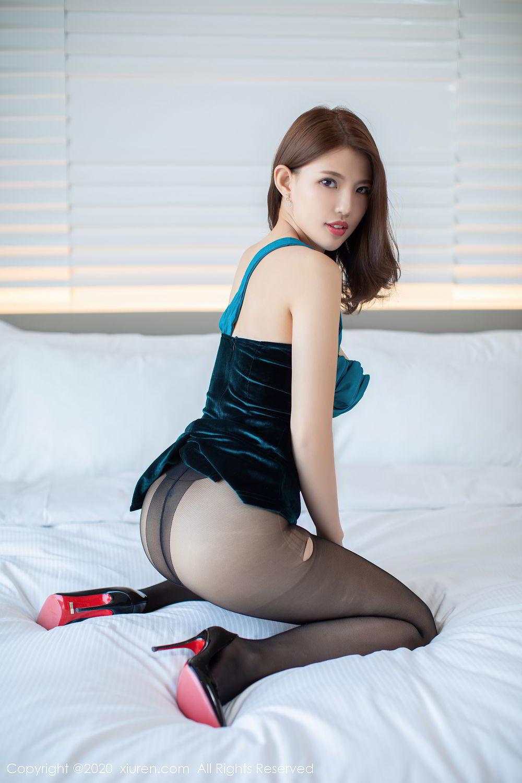 [XiuRen] Vol.2515 Xi Bao Er 48P, Black Silk, Sheng Ru Xia Hua, Underwear, Xiuren