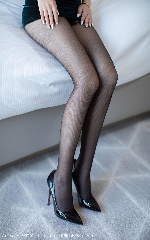 [XiuRen] Vol.2515 Xi Bao Er 49P, Black Silk, Sheng Ru Xia Hua, Underwear, Xiuren