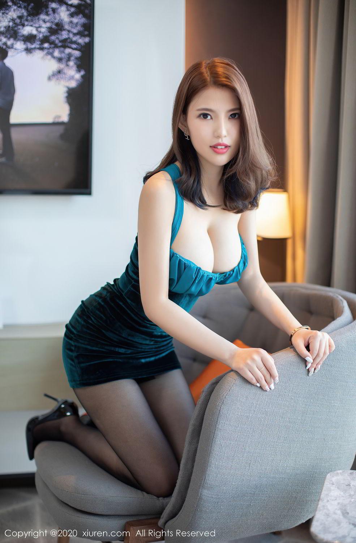 [XiuRen] Vol.2515 Xi Bao Er 4P, Black Silk, Sheng Ru Xia Hua, Underwear, Xiuren