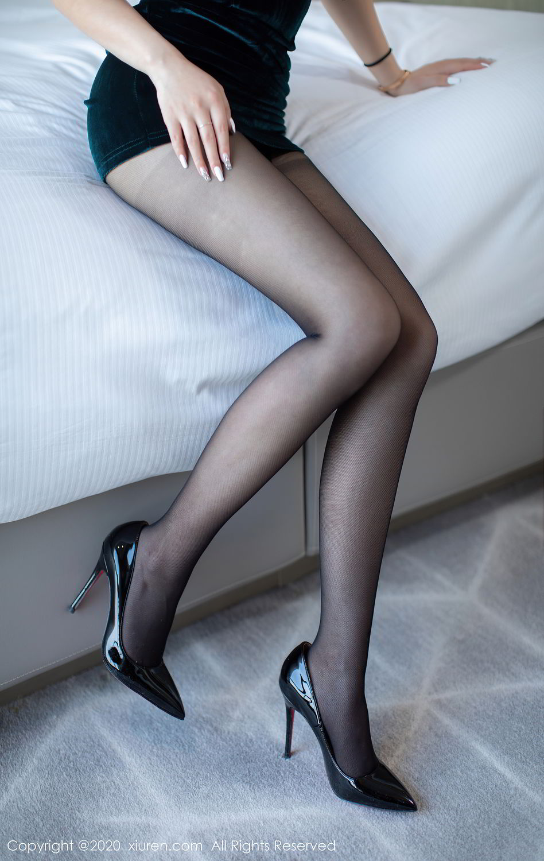[XiuRen] Vol.2515 Xi Bao Er 50P, Black Silk, Sheng Ru Xia Hua, Underwear, Xiuren
