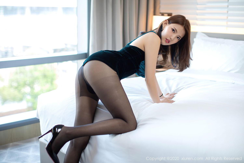 [XiuRen] Vol.2515 Xi Bao Er 51P, Black Silk, Sheng Ru Xia Hua, Underwear, Xiuren