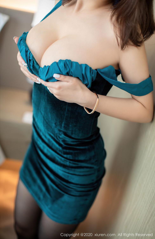 [XiuRen] Vol.2515 Xi Bao Er 7P, Black Silk, Sheng Ru Xia Hua, Underwear, Xiuren