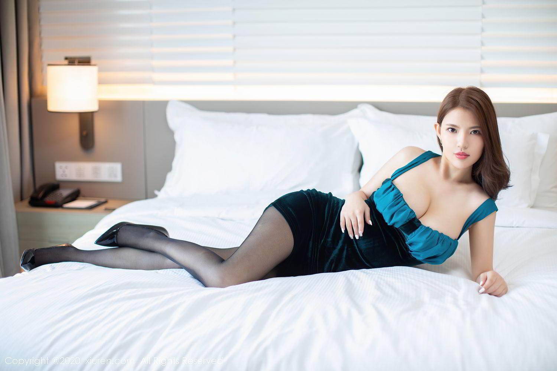 [XiuRen] Vol.2515 Xi Bao Er 8P, Black Silk, Sheng Ru Xia Hua, Underwear, Xiuren