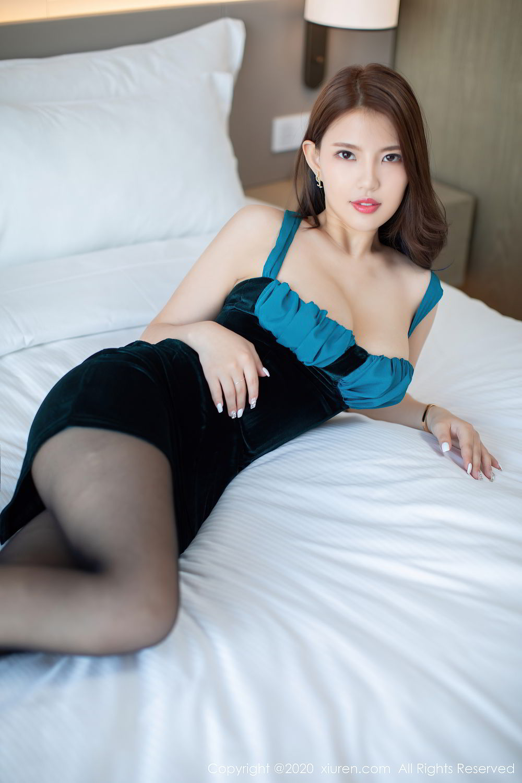 [XiuRen] Vol.2515 Xi Bao Er 9P, Black Silk, Sheng Ru Xia Hua, Underwear, Xiuren
