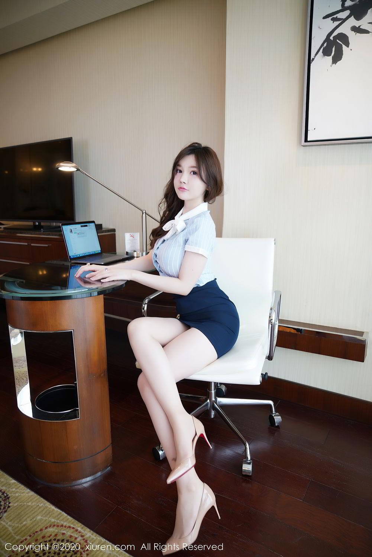 [XiuRen] Vol.2521 Nuo Mei Zi 10P, Mini Da Meng Meng, Uniform, Xiuren