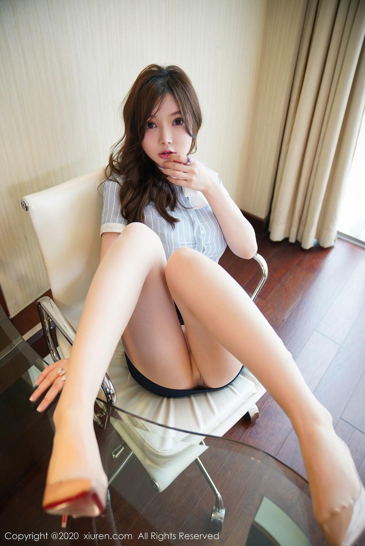[XiuRen] Vol.2521 Nuo Mei Zi 12P, Mini Da Meng Meng, Uniform, Xiuren