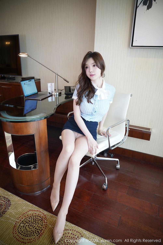 [XiuRen] Vol.2521 Nuo Mei Zi 13P, Mini Da Meng Meng, Uniform, Xiuren