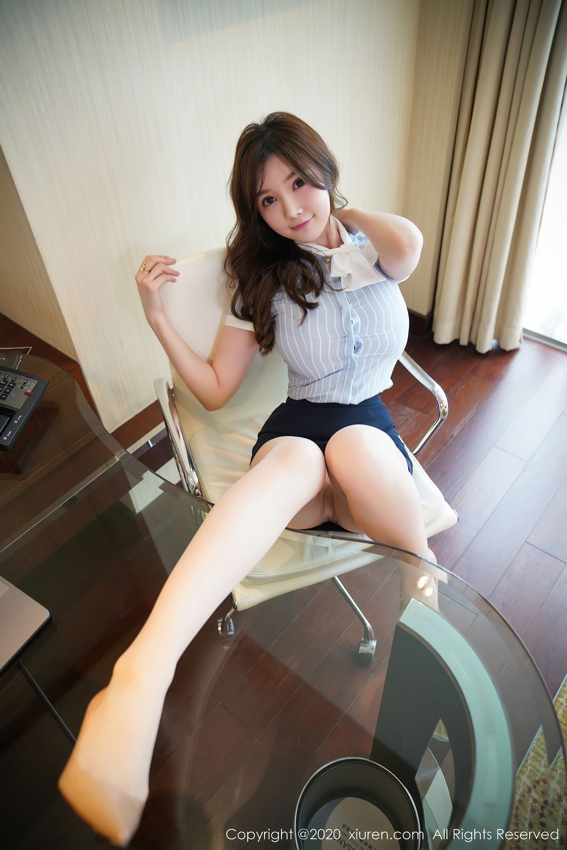 [XiuRen] Vol.2521 Nuo Mei Zi 14P, Mini Da Meng Meng, Uniform, Xiuren