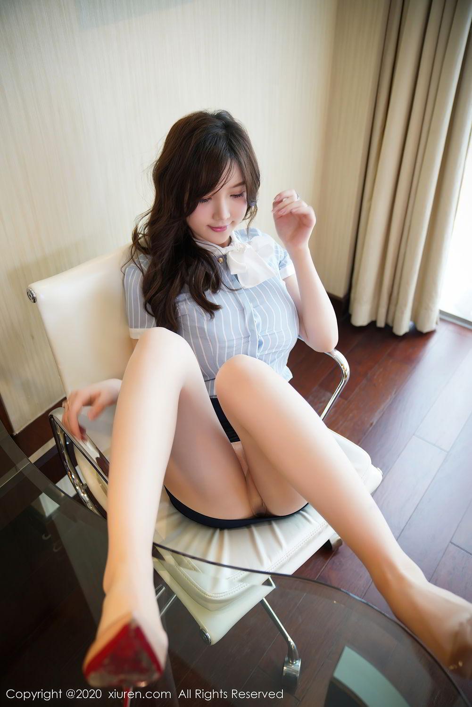 [XiuRen] Vol.2521 Nuo Mei Zi 16P, Mini Da Meng Meng, Uniform, Xiuren