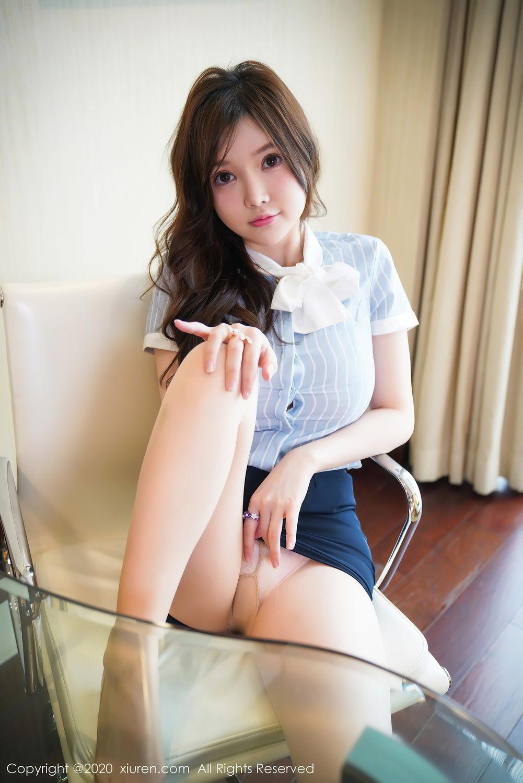 [XiuRen] Vol.2521 Nuo Mei Zi 17P, Mini Da Meng Meng, Uniform, Xiuren