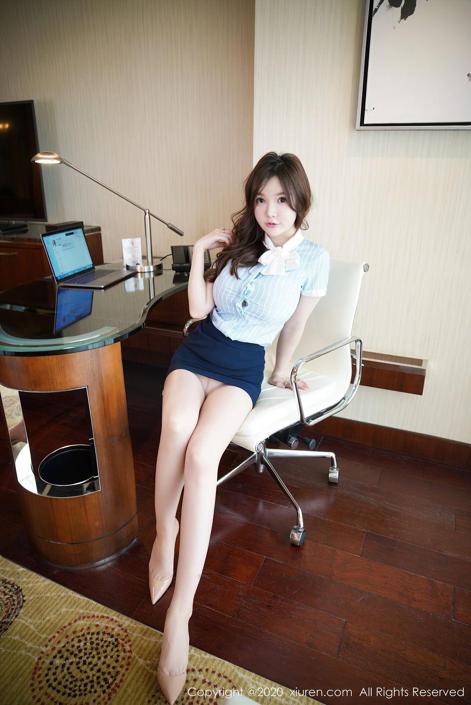[XiuRen] Vol.2521 Nuo Mei Zi 23P, Mini Da Meng Meng, Uniform, Xiuren