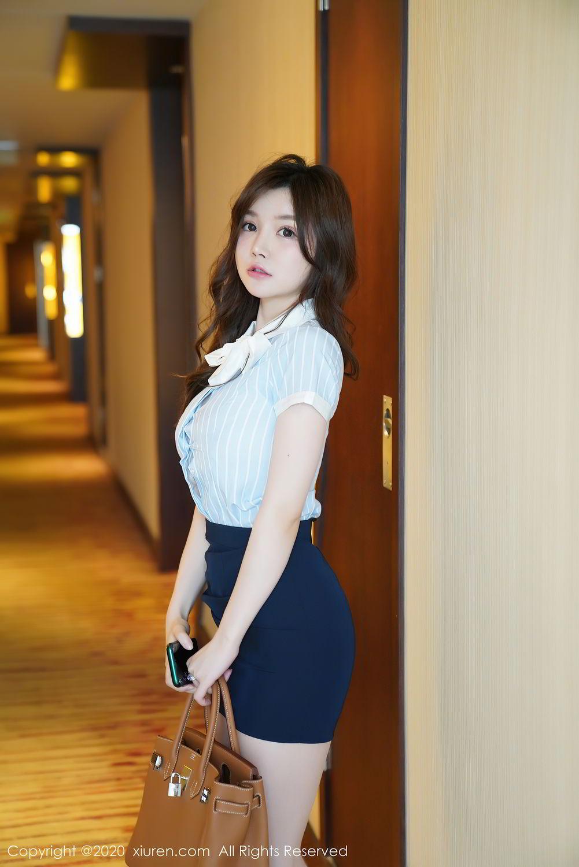 [XiuRen] Vol.2521 Nuo Mei Zi 2P, Mini Da Meng Meng, Uniform, Xiuren