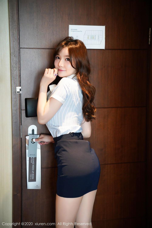 [XiuRen] Vol.2521 Nuo Mei Zi 6P, Mini Da Meng Meng, Uniform, Xiuren