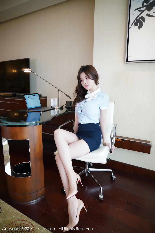[XiuRen] Vol.2521 Nuo Mei Zi 9P, Mini Da Meng Meng, Uniform, Xiuren
