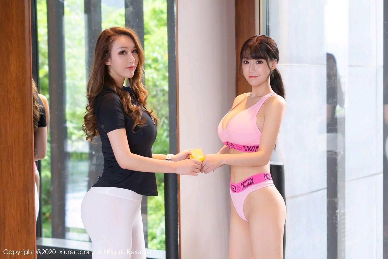 [XiuRen] Vol.2527 Two beauties fitness 11P, Egg Younisi, Sisters, Xiuren, Zhu Ke Er