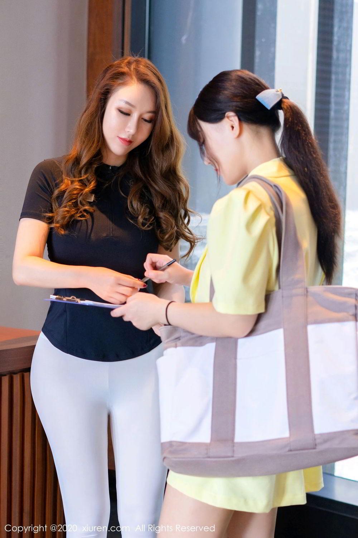 [XiuRen] Vol.2527 Two beauties fitness 23P, Egg Younisi, Sisters, Xiuren, Zhu Ke Er