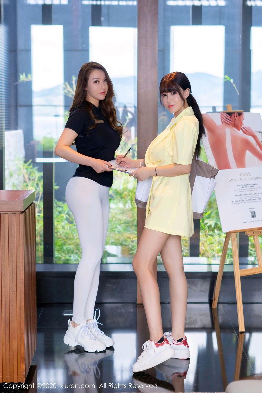 [XiuRen] Vol.2527 Two beauties fitness 34P, Egg Younisi, Sisters, Xiuren, Zhu Ke Er