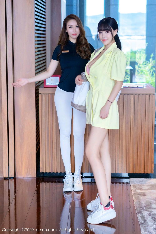 [XiuRen] Vol.2527 Two beauties fitness 45P, Egg Younisi, Sisters, Xiuren, Zhu Ke Er
