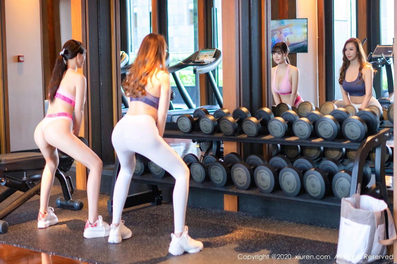 [XiuRen] Vol.2527 Two beauties fitness 51P, Egg Younisi, Sisters, Xiuren, Zhu Ke Er
