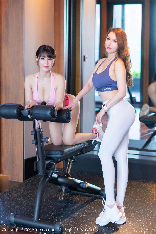 [XiuRen] Vol.2527 Two beauties fitness 58P, Egg Younisi, Sisters, Xiuren, Zhu Ke Er