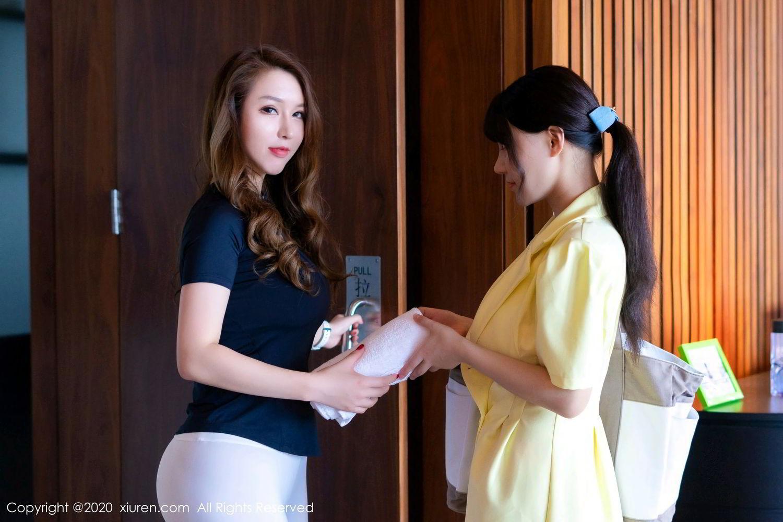 [XiuRen] Vol.2527 Two beauties fitness 73P, Egg Younisi, Sisters, Xiuren, Zhu Ke Er