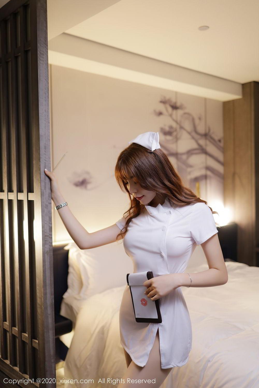 [XiuRen] Vol.2530 Zhi Zhi Booty 14P, Chen Zhi, Nurse, Uniform, Xiuren