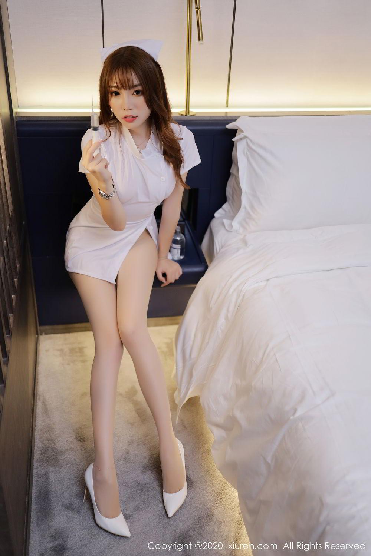 [XiuRen] Vol.2530 Zhi Zhi Booty 19P, Chen Zhi, Nurse, Uniform, Xiuren
