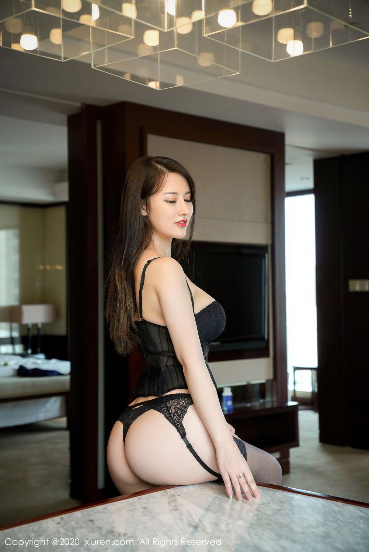 [XiuRen] Vol.2532 Shi Shi Kiki 1P, Black Silk, Chen Shi Shi, Underwear, Xiuren