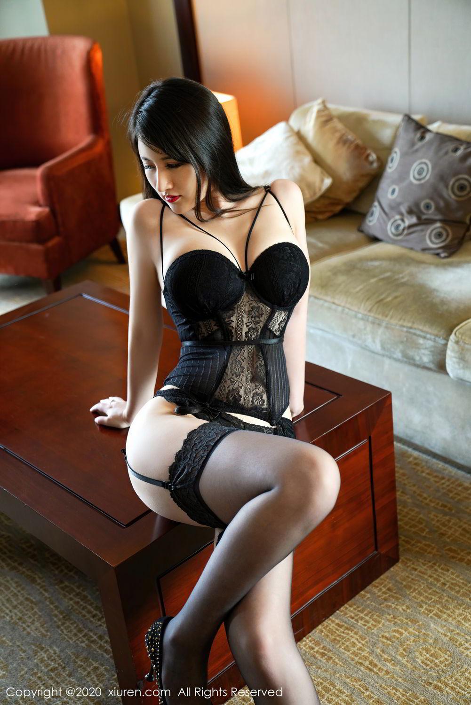 [XiuRen] Vol.2532 Shi Shi Kiki 29P, Black Silk, Chen Shi Shi, Underwear, Xiuren