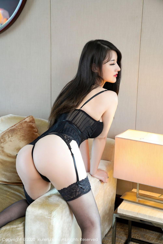 [XiuRen] Vol.2532 Shi Shi Kiki 2P, Black Silk, Chen Shi Shi, Underwear, Xiuren