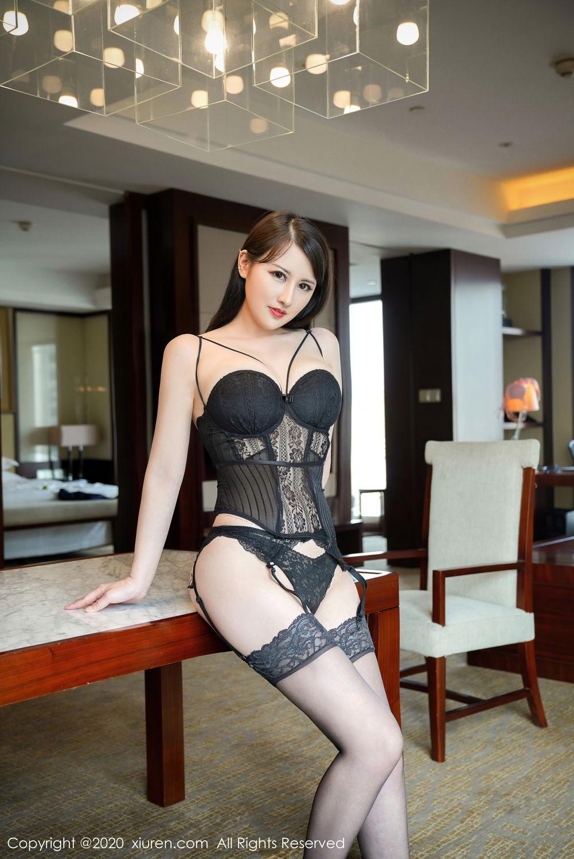 [XiuRen] Vol.2532 Shi Shi Kiki 35P, Black Silk, Chen Shi Shi, Underwear, Xiuren