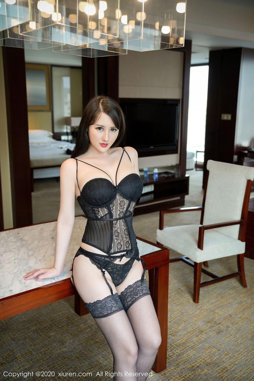 [XiuRen] Vol.2532 Shi Shi Kiki 36P, Black Silk, Chen Shi Shi, Underwear, Xiuren