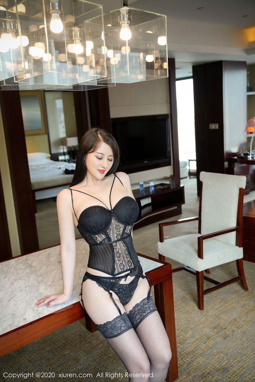 [XiuRen] Vol.2532 Shi Shi Kiki 37P, Black Silk, Chen Shi Shi, Underwear, Xiuren