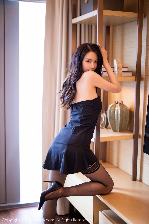 [XiuRen] Vol.2535 Meng Xin Yue 11P, Black Silk, Meng Xin Yue, Slim, Tall, Xiuren