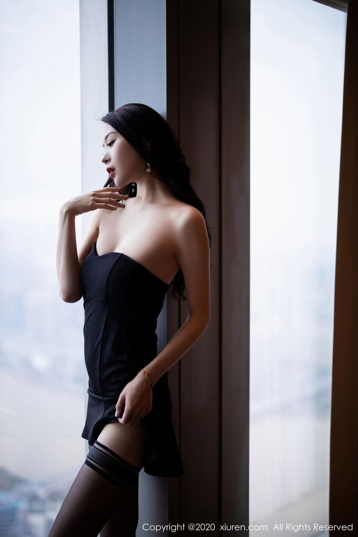 [XiuRen] Vol.2535 Meng Xin Yue 14P, Black Silk, Meng Xin Yue, Slim, Tall, Xiuren