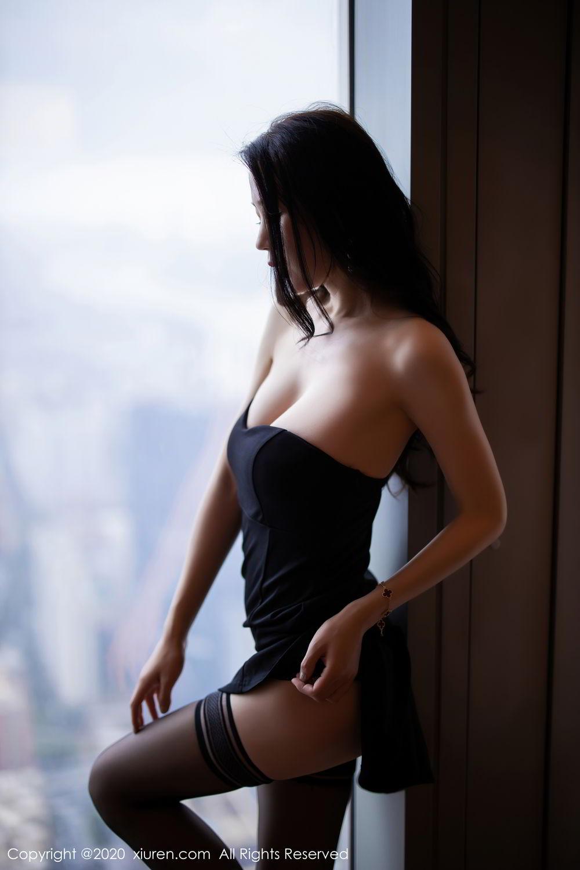 [XiuRen] Vol.2535 Meng Xin Yue 17P, Black Silk, Meng Xin Yue, Slim, Tall, Xiuren