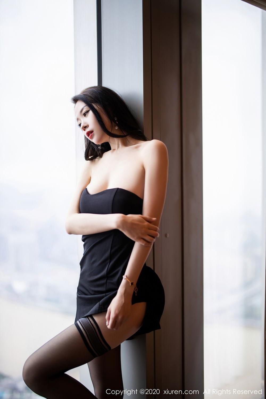 [XiuRen] Vol.2535 Meng Xin Yue 19P, Black Silk, Meng Xin Yue, Slim, Tall, Xiuren