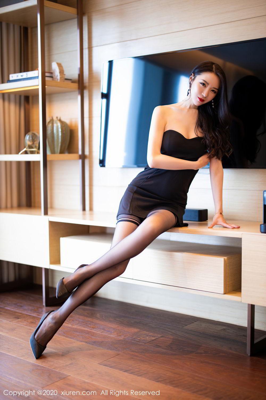 [XiuRen] Vol.2535 Meng Xin Yue 1P, Black Silk, Meng Xin Yue, Slim, Tall, Xiuren
