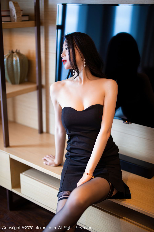[XiuRen] Vol.2535 Meng Xin Yue 31P, Black Silk, Meng Xin Yue, Slim, Tall, Xiuren